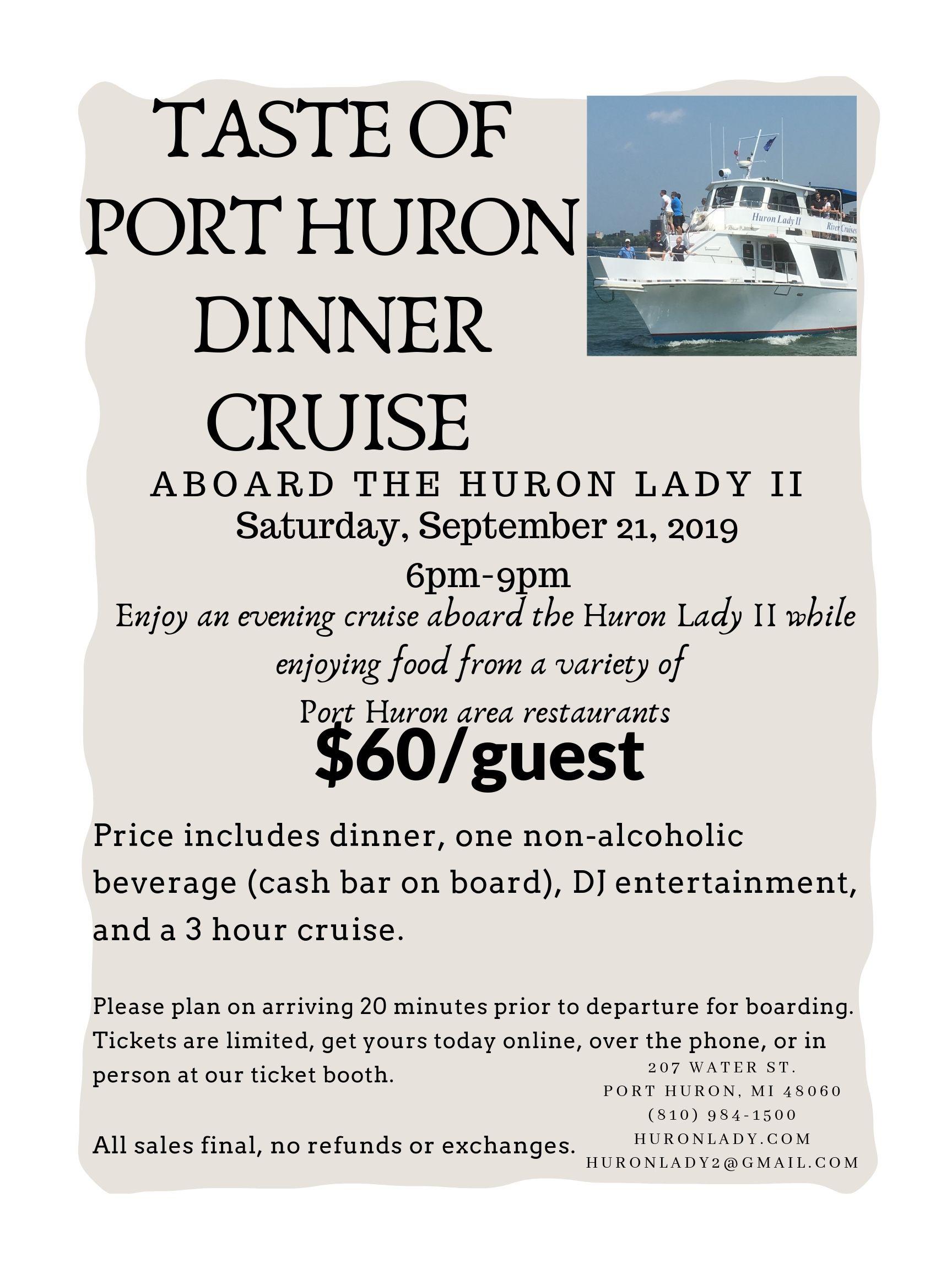 Huron Lady Cruises   Cruises in Port Huron